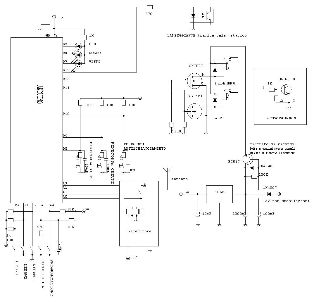 Schemi Elettrici Arduino : Apricancello apriserranda con arduino ver